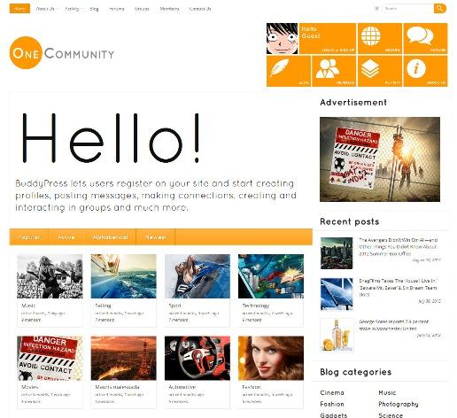OneCommunity-WordPress-bbPress-BuddyPress